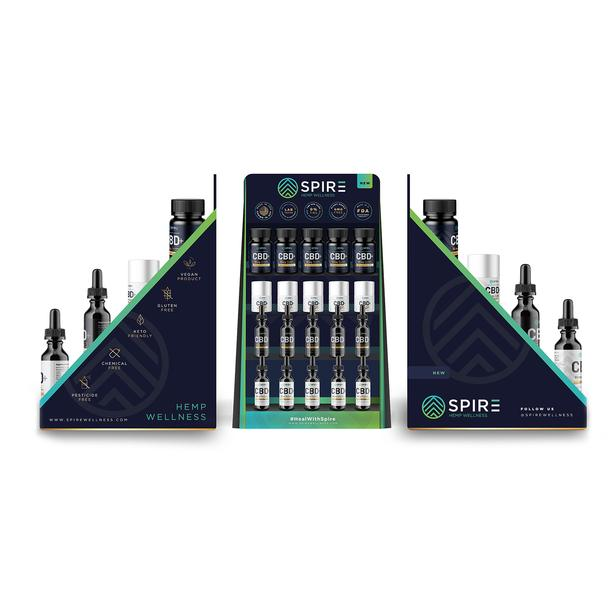 Spire CBD oil display
